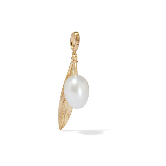 Mythology 18ct Gold Pearl Olive Seed Charm