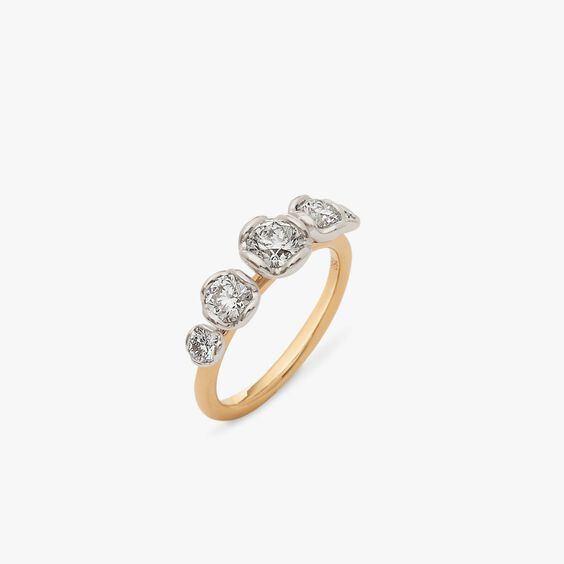Marguerite 18ct Yellow & White Gold Five Stone 0.50ct Engagement Ring