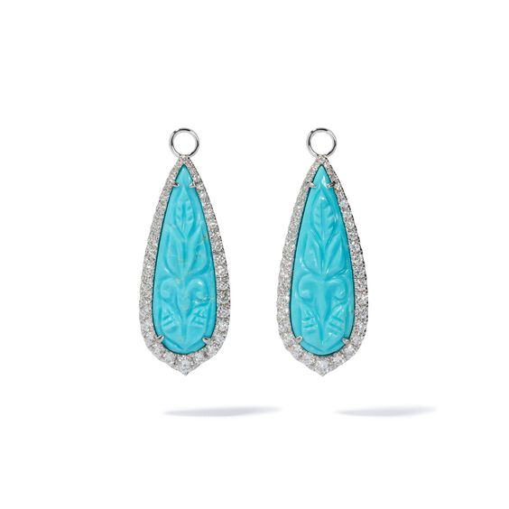 Unique 18ct White Gold Turquoise Earrings | Annoushka jewelley