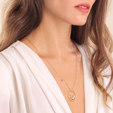 Hoopla Gold Bee Necklace