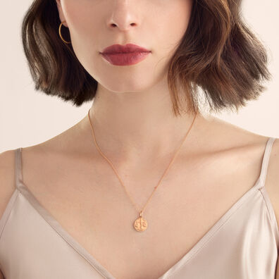 Mythology 18ct Rose Gold Libra Necklace