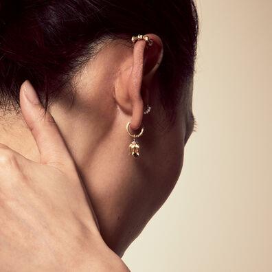 18ct Gold Tulip Diamond Earring Drops