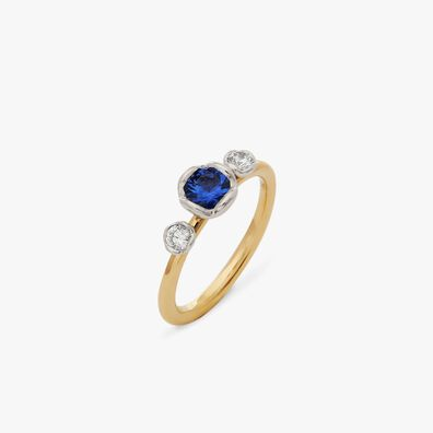 Marguerite 18ct Tanzanite & Diamond Engagement Ring