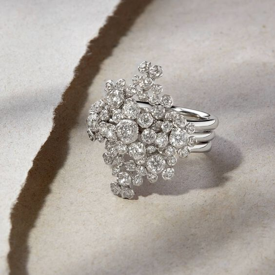 Marguerite 18ct White Gold Diamond Cocktail Ring | Annoushka jewelley