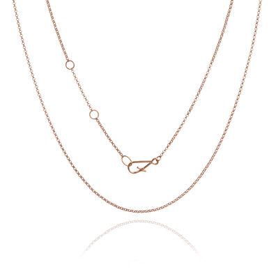 18ct Rose Gold Fine Belcher Chain
