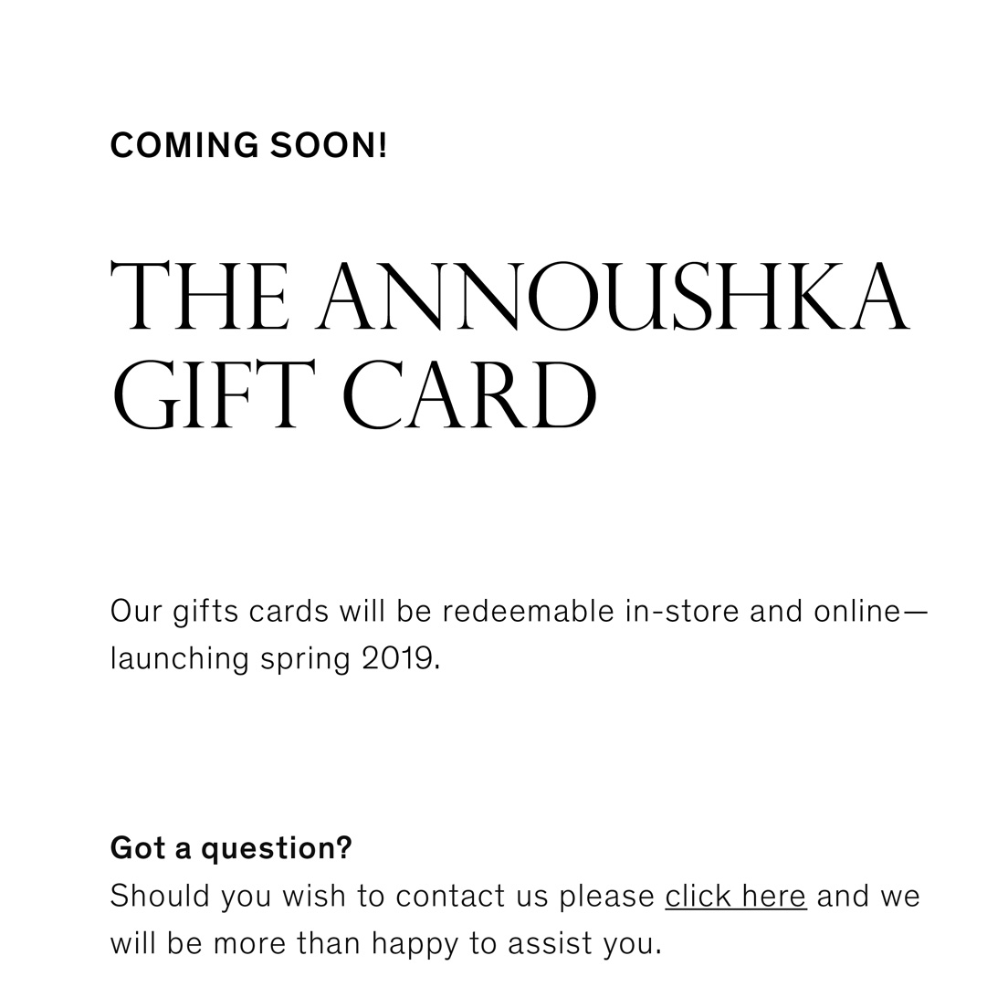 Annoushka Contact Us