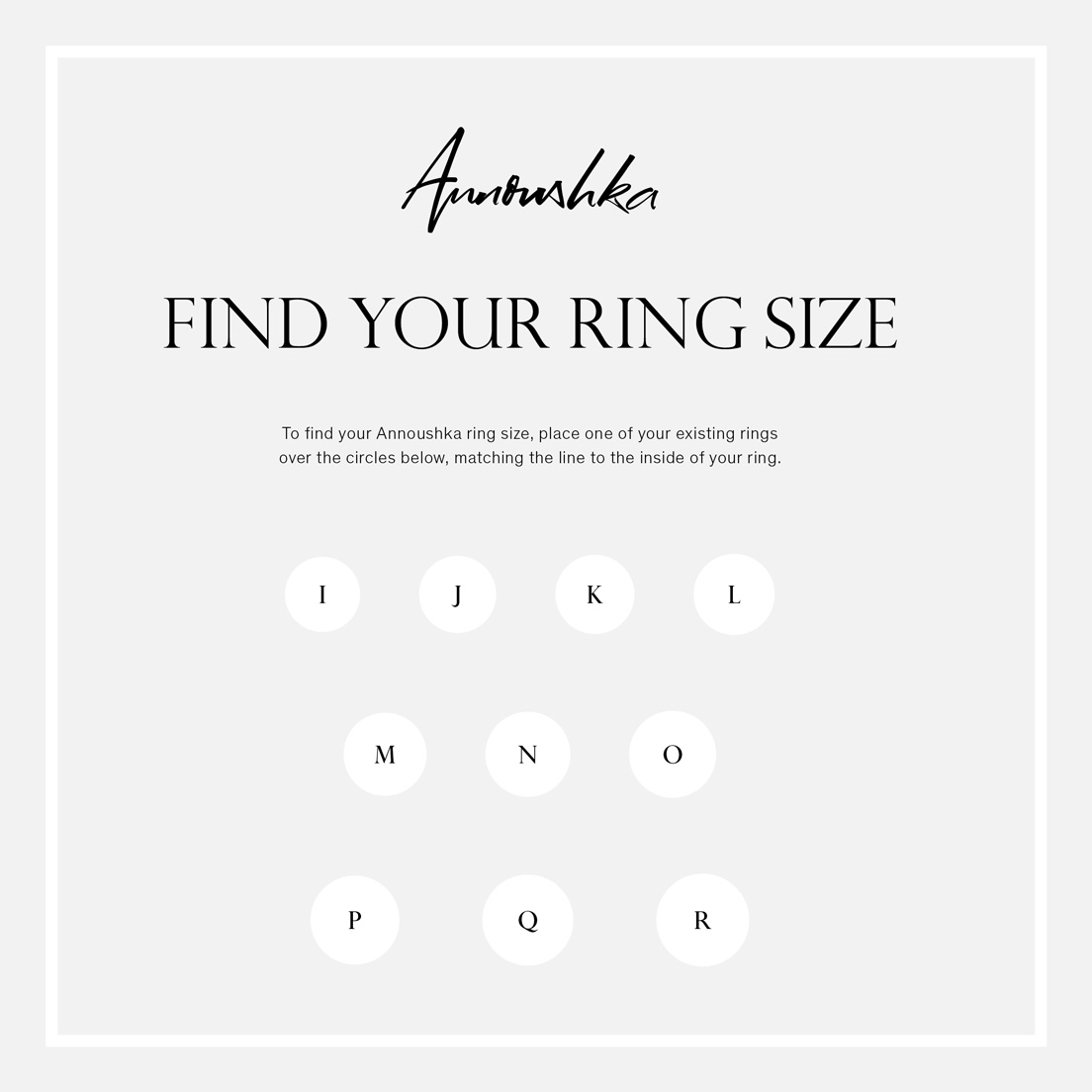 picture relating to Printable Ring Sizes identified as Come across your ring dimensions Annoushka British isles