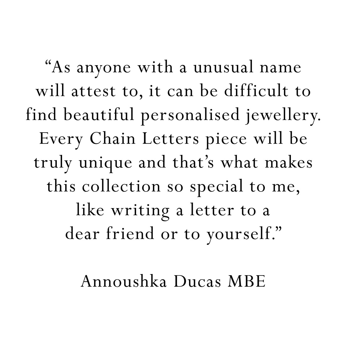 Chain letters quote